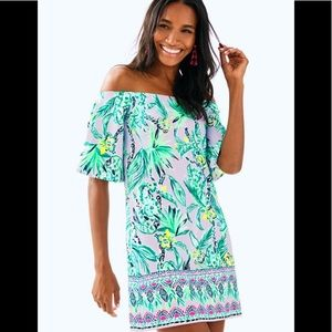 NWT Lilly Pulitzer Fawcett Off The Shoulder Dress